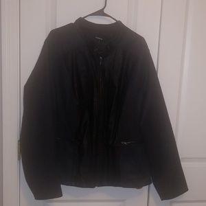 Torrid moto wool/faux leather jacket sz 4